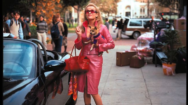 elle woods arriving to harvard