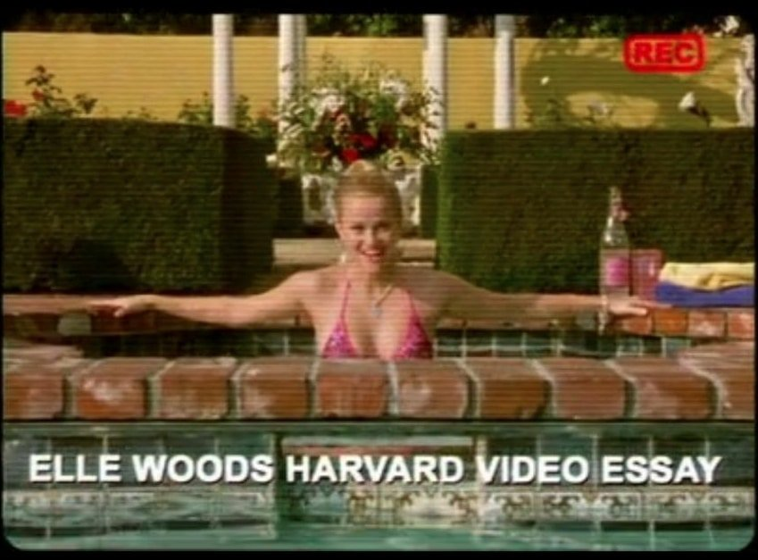 elle woods video essay for harvard